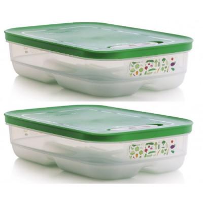 Контейнер Умный холодильник 1,8 л низкий, 2 шт