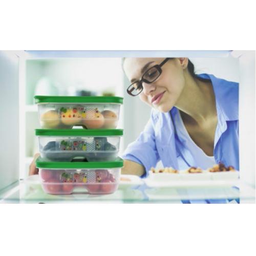 Набор: Контейнер Умный холодильник 4,4 л, Контейнер Умный холодильник 1,8 л низкий