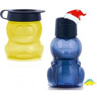 Детский набор: Эко-бутылочка 350мл + Закусочный стаканчик 350мл