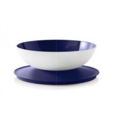 Чаша Аллегро 1,5 л в бело-синем цвете