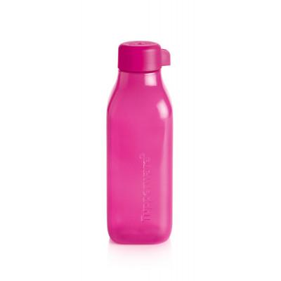 Эко-бутылка квадратная розовая 500 мл