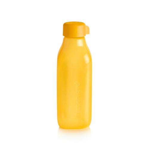 Эко-бутылка квадратная желтая 500 мл