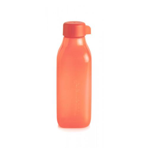 Эко-бутылка квадратная коралловая 500 мл